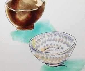 陶芸体験のイメージをコピックマーカーを使って描いたイラスト