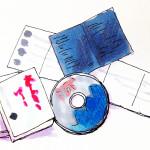 歴史を題材にした小説や映画などのイメージをコピックで描いたイラスト