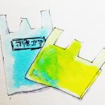 断捨離に必要なゴミ袋をコピックマーカーで描いたイラスト