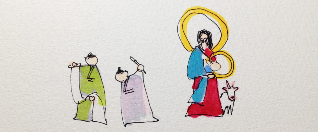 西洋絵画や日本画の画題の定番のイメージをコピックで描いたイラスト