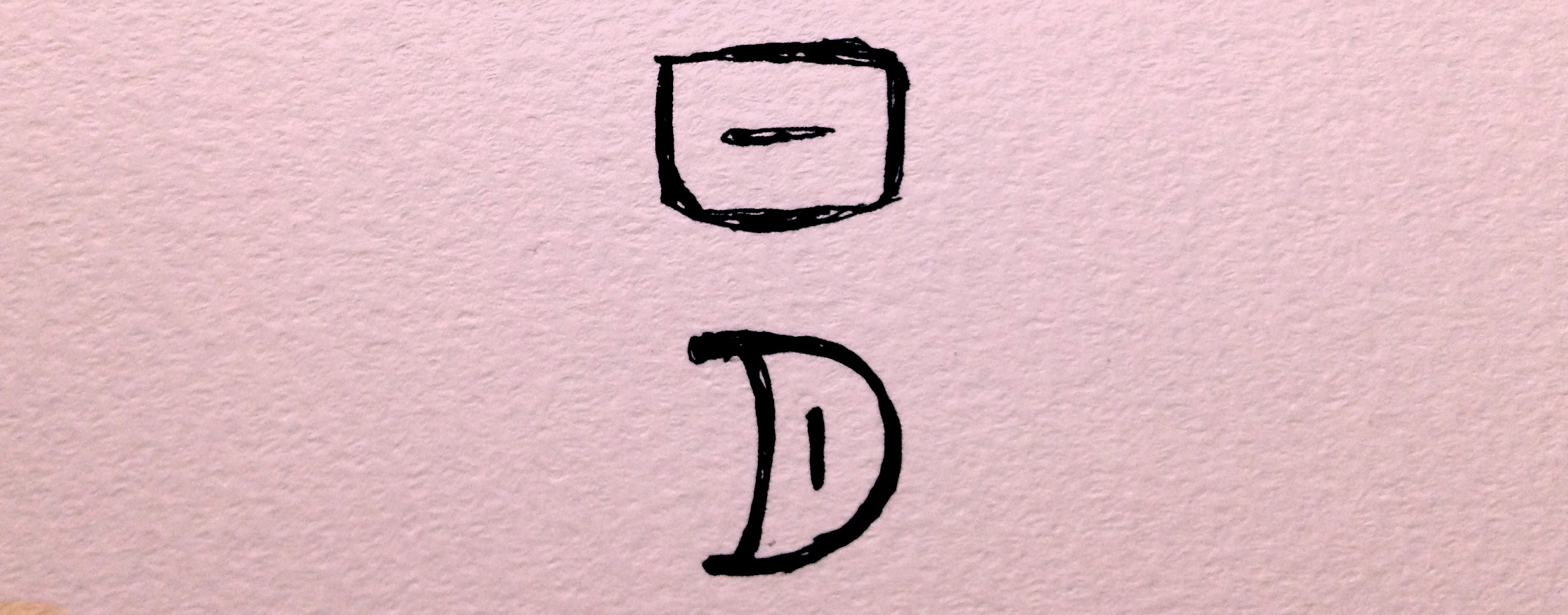朝夜ネットにちなんだ「日」と「月」という象形文字の画像
