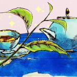 世界中で愛される紅茶のイメージをコピックで描いたイラスト