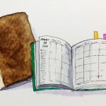 ノートや手帳のイラスト