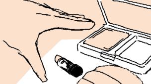 『プチプラメイク』挿絵イラスト