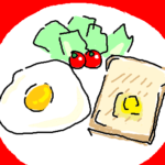 『体を悪くする やってはいけない食べ方』挿絵イラスト