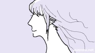 『なぜか美人に見える人は髪が違う』挿絵イラスト