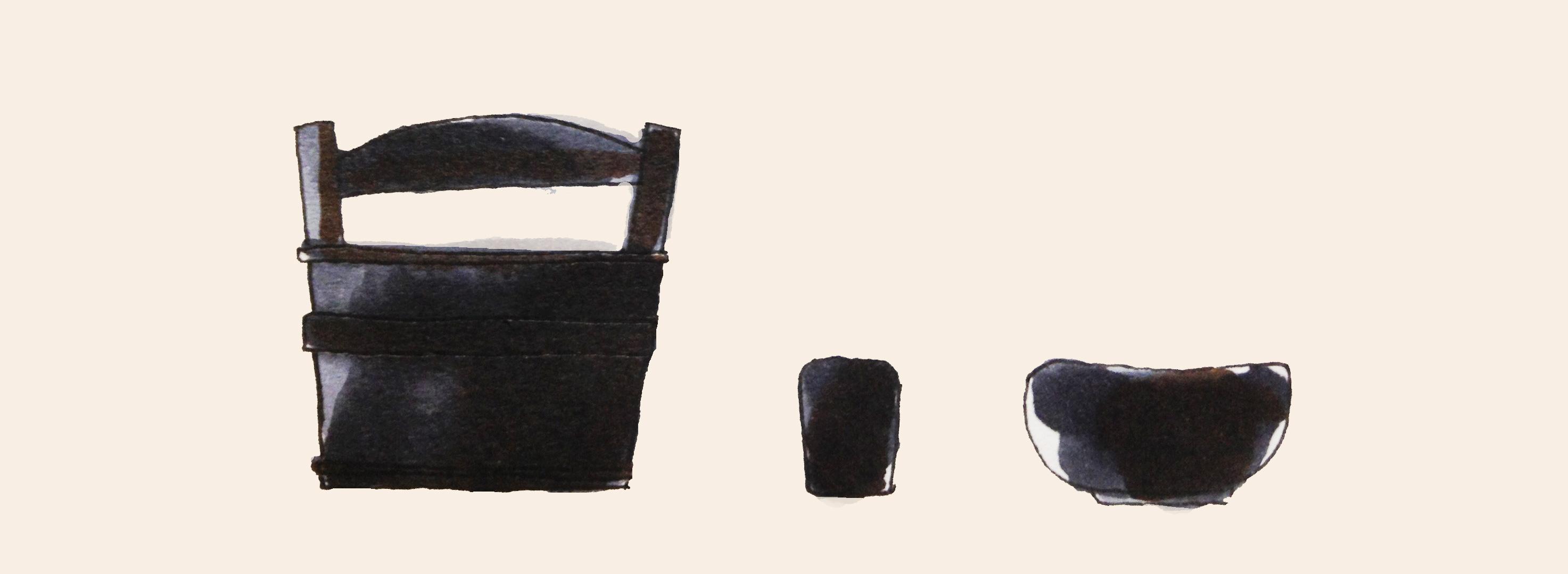 利休好みを想像してみたイメージをコピックで描いたイラスト