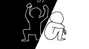 『宝くじで1億円当たった人の末路』挿絵イラスト