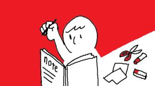 『わたしらしさを知る マイノートのつくりかた』挿絵イラスト